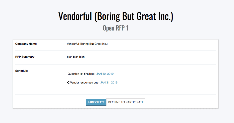 Open RFX Landing Page