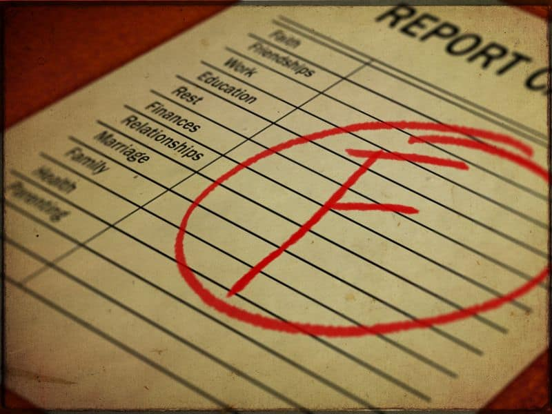 Failing Report Card