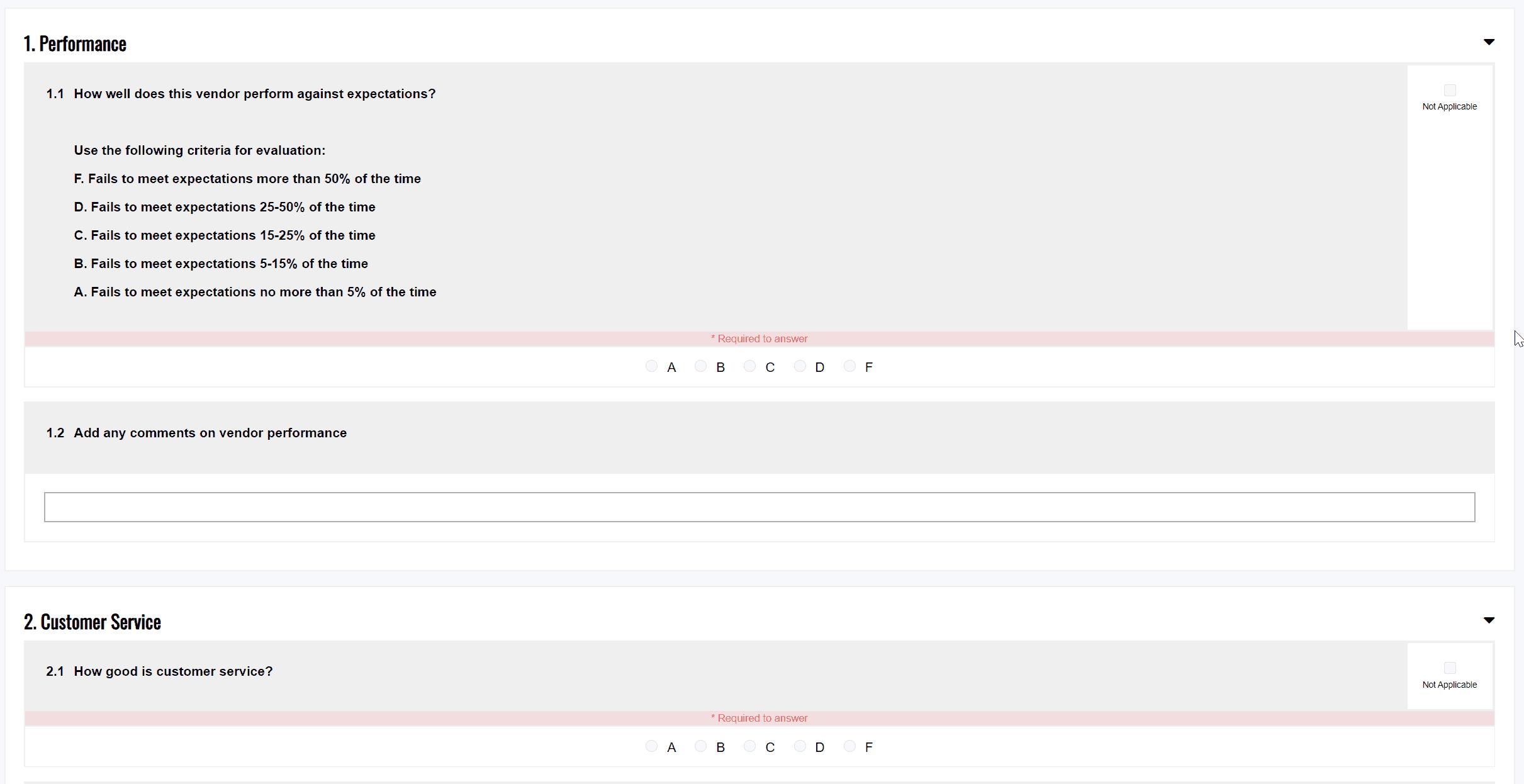 Scorecard Survey Preview