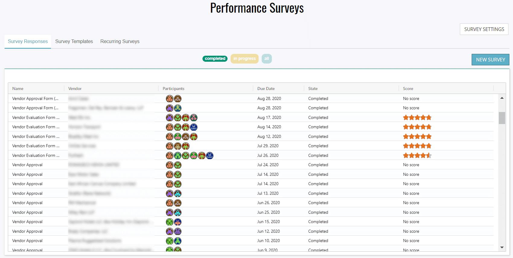 Survey Landing Page