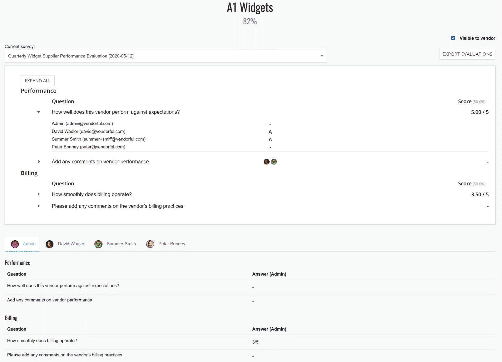 Survey Review Page